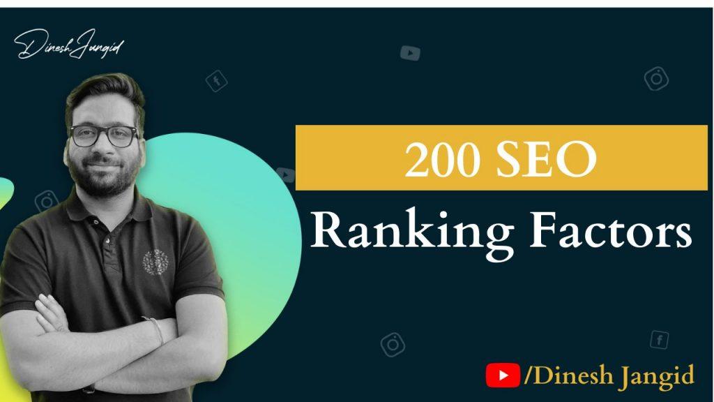 200 SEO Ranking Factors