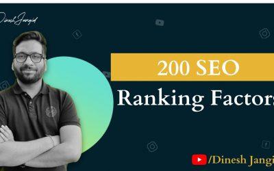 200 SEO Ranking Factors 2021 by Dinesh Jangid