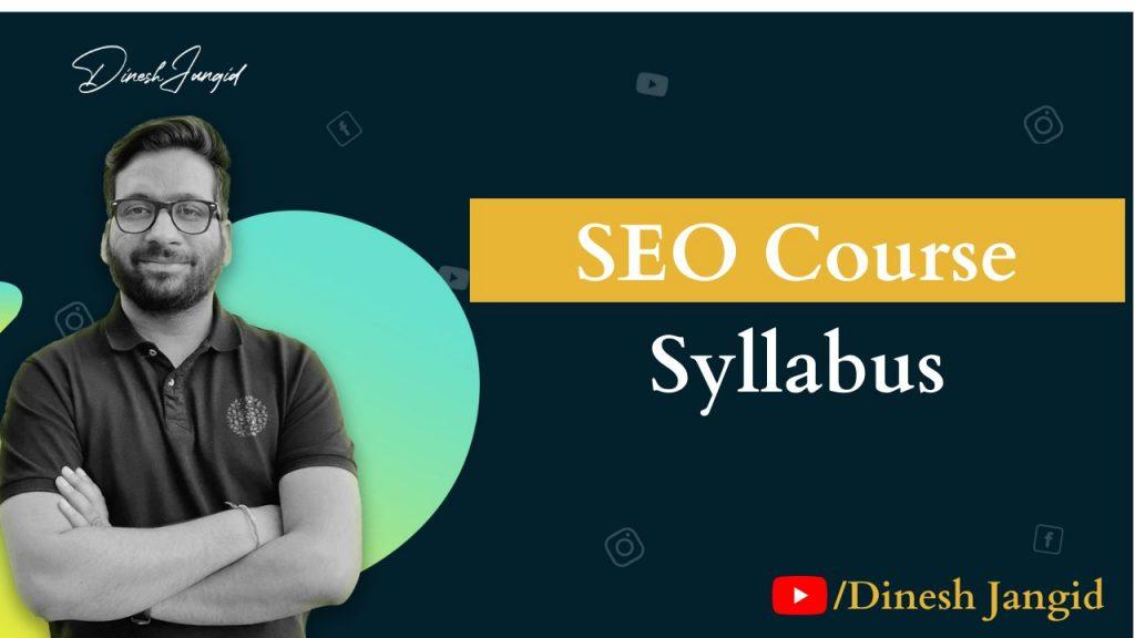 SEO Course Syllabus